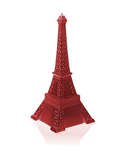 Candellana Candles Candellana- Eiffel Tower Candle-Red II, Large, Metallic