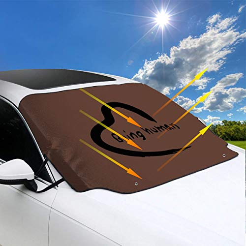 Premium Universal Car Windshield Snow Cover Salman Khan You Can Learn for Most Vehicles,Protect The Windshield and Keeps Ice & Snow Off,58 X 46 Inch