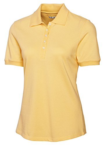 Cutter & Buck LCK04205 Womens Tournament Polo, Sunflower-XS - Womens Tournament Polo Golf Shirt