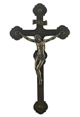 Large Cathedral Style Crucifix Cross Wall Plaque Sculpture 20'' by unicorn studios (Image #2)