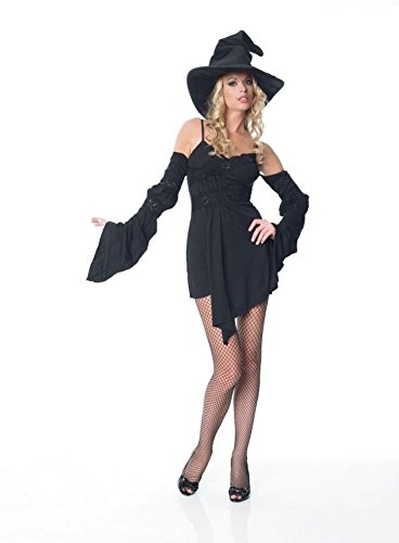 GTH Women's Witch Wizard Outfit Fancy Dress Sexy Costume, XL (14-16) (Sexy Witch Dress)
