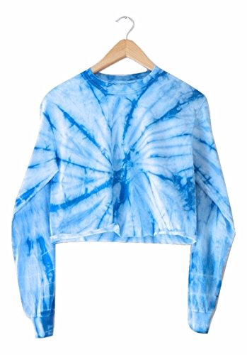 Era of Artists, LLC Sky Blue Tie-Dye Cropped Long Sleeve Tee (Dye Blue Sky Tie)
