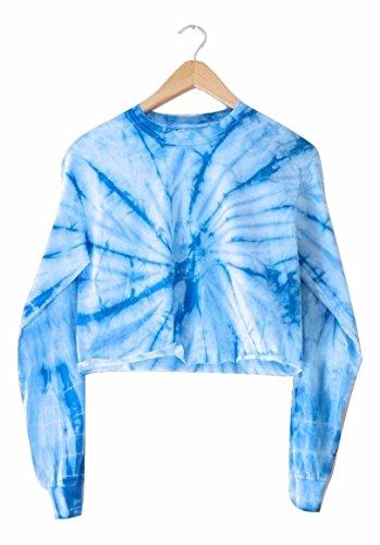 Era of Artists, LLC Sky Blue Tie-Dye Cropped Long Sleeve Tee (Blue Sky Tie Dye)