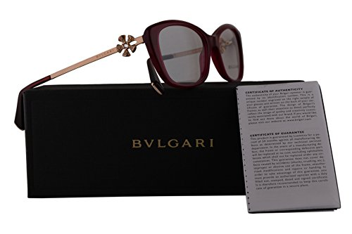 Bvlgari BV4145B Eyeglasses 55-17-140 Transparent Red w/Demo Clear Lens 5333 BV 4145B (Bulgari Eyeglasses)