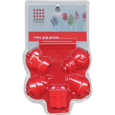 Sweet Creations Christmas Cake Pop Press Mold, Red -