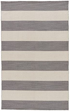Jaipur Living Tierra Reversible Flatweave Striped Gray/Silver Area Rug 9' X 12'