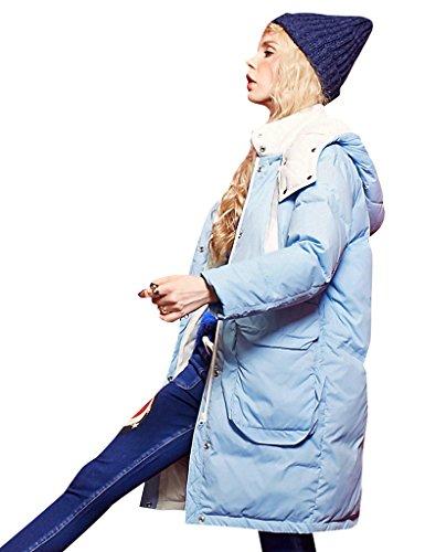 Elf sack - Abrigo - Parka - Étnica - cuello mao - Manga Larga - para mujer Azul