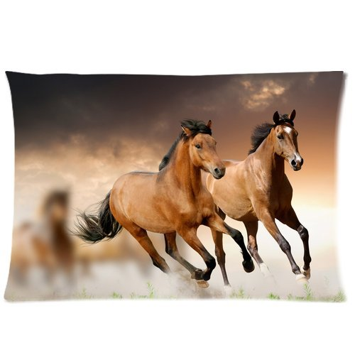 Horses Running Two Sides Pattern Printed Custom Queen for sale  Delivered anywhere in Canada
