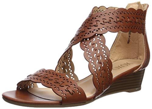 - XOXO Women's Ambridge Wedge Sandal, Black, 7 M US