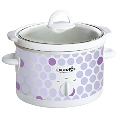 Crock Pot SCR250-POLKA 2-1/2-Quart Slow Cooker, Polka Dot Pattern