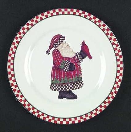 Sakura Debbie Mumm Santa #4 Salad Plate Magic of Santa