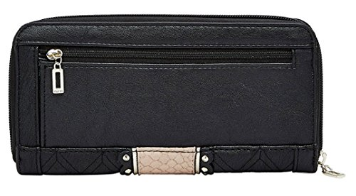 be68e6a6396 GUESS Miss Social SLG Zip Around Clutch Wallet, Black - Buy Online ...