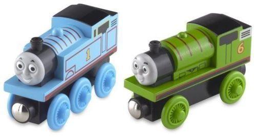 (Thomas Wooden Railway Train - Thomas & Percy Starter Set - Loose Brand New by Learning Curve )