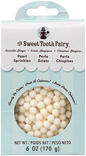 Magic Sprinkles - American Crafts Sweet Tooth Fairy Sprinkle Magic Pearls 6 oz, White