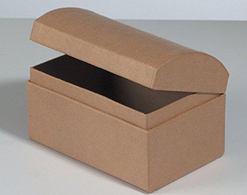 5 Paper Mache Medium Treasure Chests to Decorate 12x8x7.5cm   Papier Mache Boxes