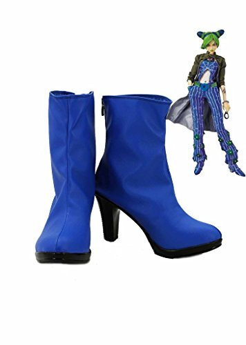 JOJO'S BIZARRE ADVENTURE 6 Jolyne Kujo Cosplay Shoes Blue Boots Custom Made - Jolyne Kujo Costume