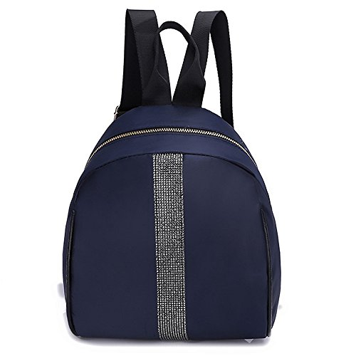 Bag Tote Backpack Shoulder Nylon Women Blue Students Hit Bag School Fashion Color Dark gHq81