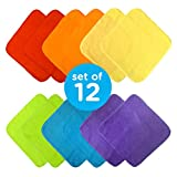 Neat Solutions Solid Knit Terry Washcloth Set, Multi-color, 12-Count
