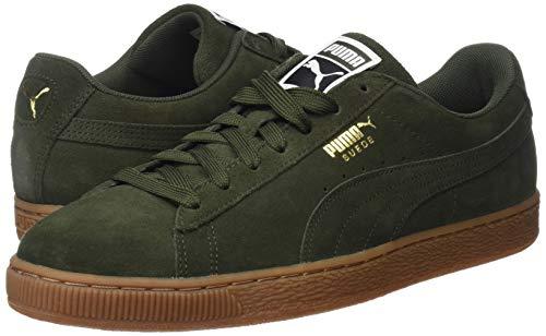 Team Unisex Sneaker puma Suede Gold Puma – Adulto Basse Classic Verde Night 46 forest wPEq4