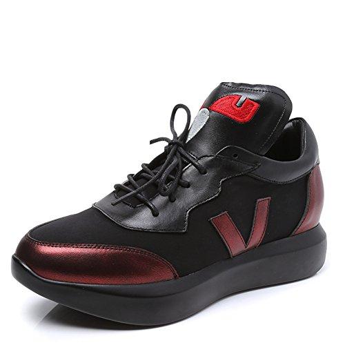 Damen Atmungsaktiv Sneakers,Koreanische Version Hundert Casual Leder Running Shoes,Studenten Flach-boden Schuhe,Nude Schuhe B