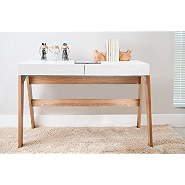 Home Office Desk Trendline - 2 Drawer Desk Hanover, Off White