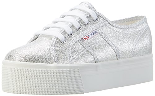 Superga Womens 2790 Lamew Canvas Trainers Silver