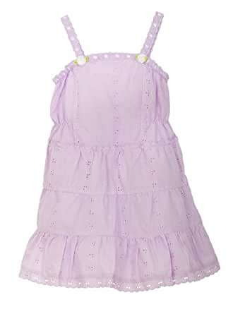 Little Bitty Eyelet Sundress with Extra Wide Hem and Hat , LILAC, 4