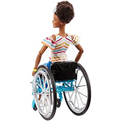 Barbie Fashionistas Doll, Brunette with Rolling Wheelchair and Ramp, for 3 to 8 Year Olds: Toys & Games