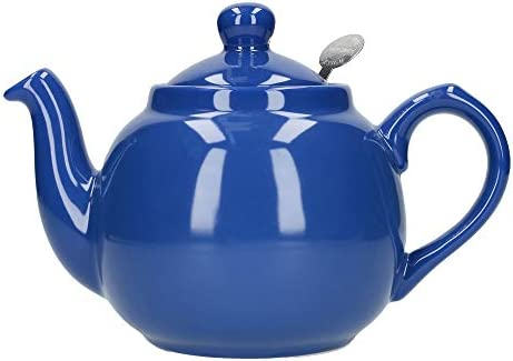 2 Cup Ceramic London Pottery Globe Small Teapot with Strainer 500 ml Cobalt Blue