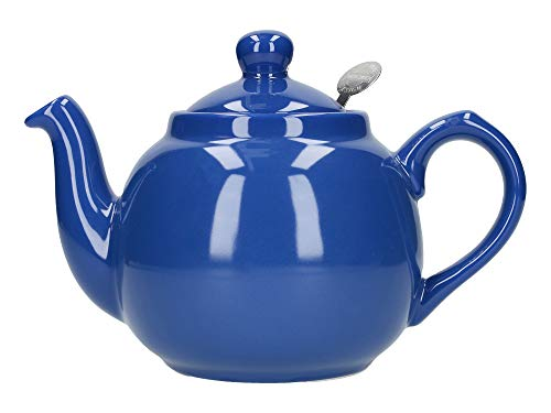 London Pottery Farmhouse Small Teapot with Infuser, Ceramic, French Blue, 2 Cup (500 ml)