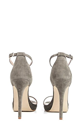 Khaki Damen Elizabeth Single Platform Two Part Heels - 7