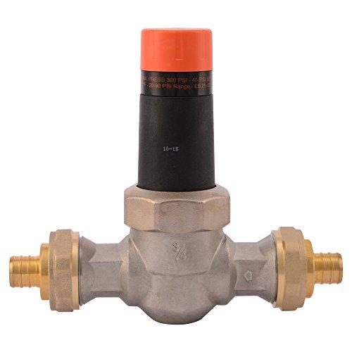 Cash Acme 23957-0045 Pressure Regulator, EB25-DUPE Double Union PEX Ends, 3/4