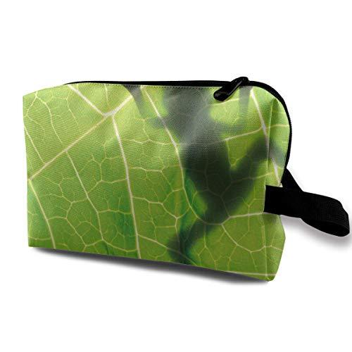 RuiKai Toiletry Jewelry Bag Frog On Leaf Cute Hip Hop Organizer Portable