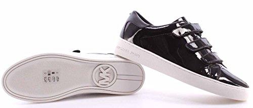 Zapatos Mujer Sneakers MICHAEL KORS Craig Sneaker Patent Black Piel Negro Nuevo