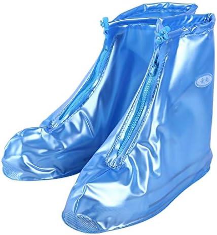 男女兼用 ファッションPVCノンスリップ防水太い底の靴カバーサイズ:M(コーヒー)