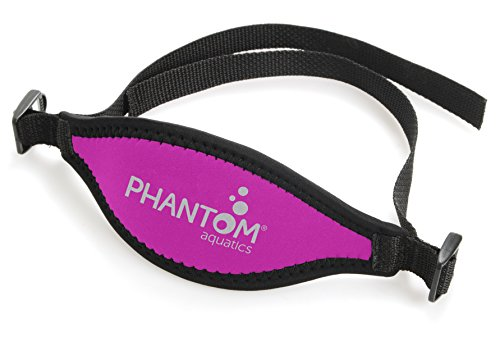 Phantom Aquatics Scuba Snorkeling Adjustable Neoprene Mask Strap, Pink
