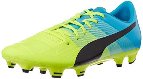 PumaevoPOWER 3.3 FG - Scarpe da Calcio Uomo , Giallo (Gelb (safety yellow-black-atomic blue 01)), 44