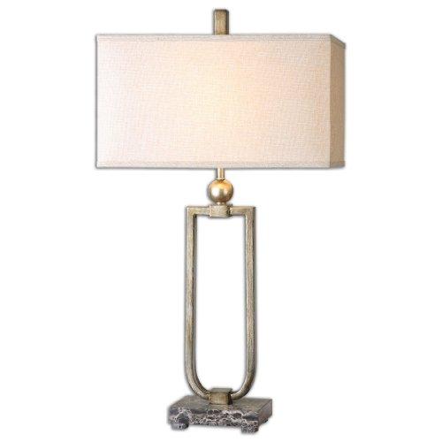- Uttermost 26140-1 Osmund Metal Lamp, Beige