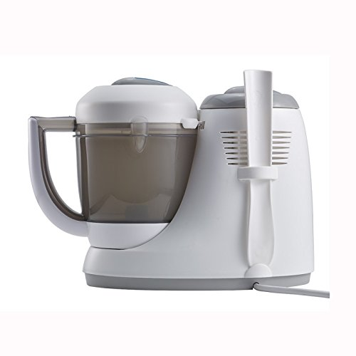 BEABA Babycook Original Plus 6 in 1 Steam Cooker, Blender, and Bottle Warmer, 3.5 cups, Dishwasher Safe, Peacock