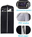 """MISSLO 43"""" Gusseted Travel Garment Bag with"""