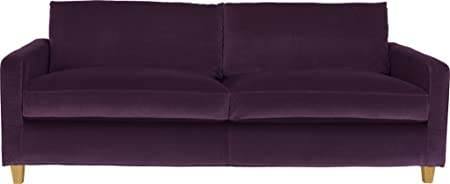 Habitat Chester Velvet 3 Seater Sofa - Purple: Amazon.co.uk: Kitchen ...