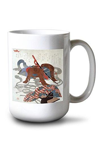 (Saddlery Japanese Wood-Cut Print (15oz White Ceramic Mug) )