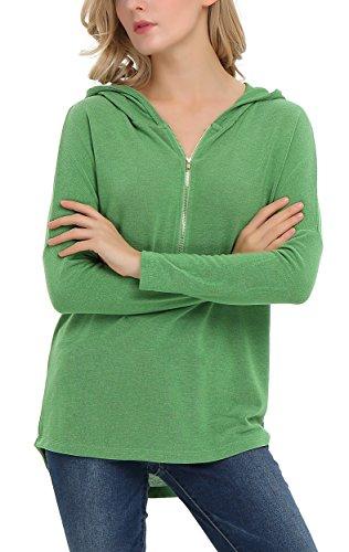 Urban GoCo - Sudadera con capucha - para mujer verde hierba