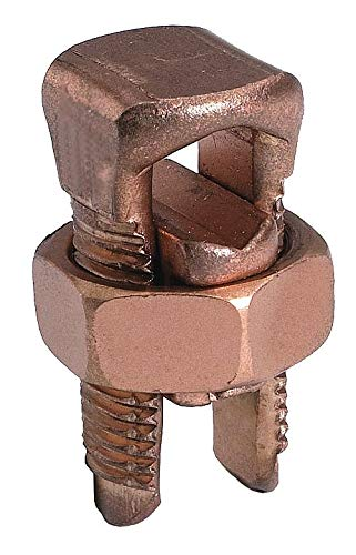Burndy Split-Bolt Connector, Copper Alloy, Min. Tap Conductor w/1 Max. Main (AWG) 14 str - KS22 ( Pack of 2 )