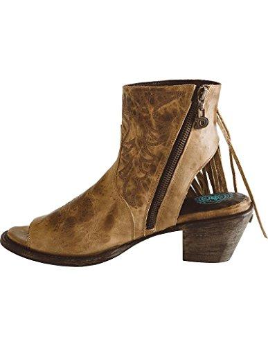 Lane Womens För Dubbel D Ranch Seally Fringe Boot Öppen Tå - Dd9041c Tan
