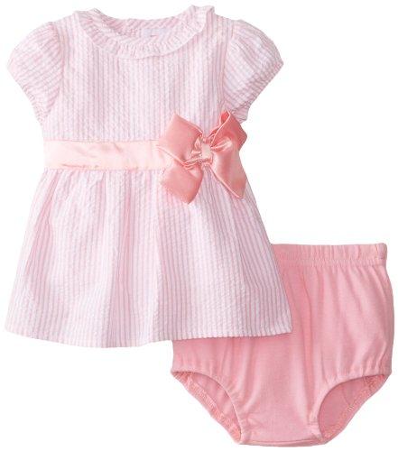 Isaac Mizrahi Baby-Girls Newborn Seersucker Dress with Sa...