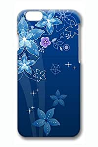 Blue Dreamy Flowers Slim Hard For SamSung Galaxy S4 Case Cover Case PC 3D Cases