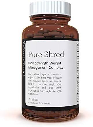 Pure Shred x 180 Tabletten (5 führende Inhaltsstoffe zur Gewichtsabnahme - 1000 mg pro Tablette - 6-Monats-Vorrat!) SKU: PSHRED3
