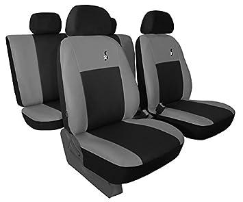 Grauer Velours Sitzbezüge für SKODA OCTAVIA Autositzbezug Komplett