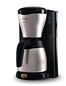 Philips HD7546/20 Gaia Filter-Kaffeemaschine mit Thermoskanne, schwarz/metall